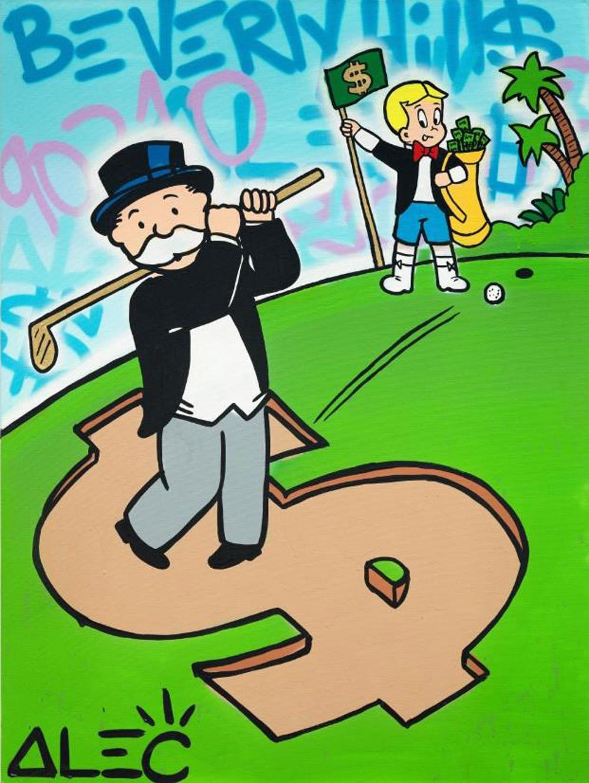 Alec Monopoly Monopoly Monopoly Richie $ Golf Decor Decor Papreud HD Pref imprimer Peinture à l'huile sur Toile Art mural Toile Photos 201221
