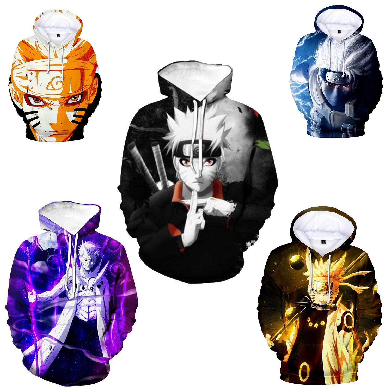 9colour S-5XL 2021 뉴 나루토 6 가지 방법 나루토 요정 애니메이션 스웨터 3D 캐주얼 후드 재킷 코스프레 애니메이션 주변 기기 42634906694224