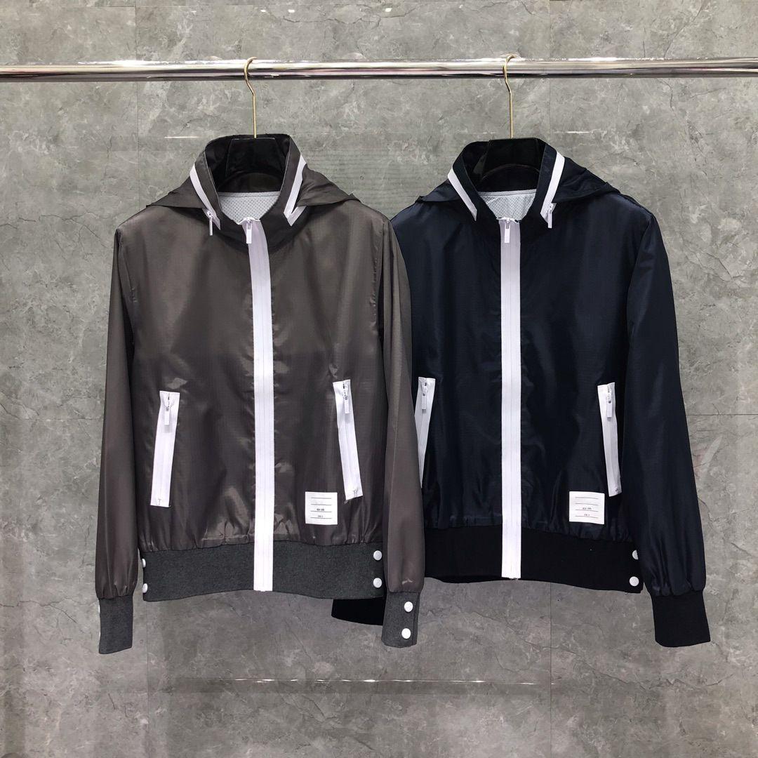 TB Dongguan Daizhying Stripmsuit Мужская и женская куртка пара Водонепроницаемая пальто с капюшоном