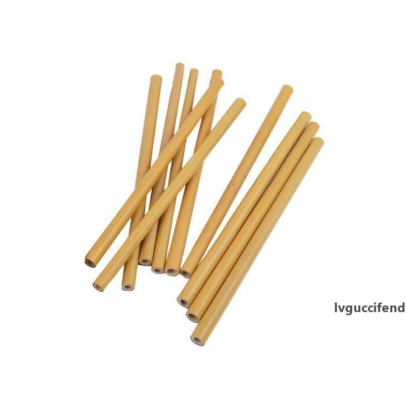 Reusable Bamboo Straws Bamboo Drinking Straw Eco Friendly Handcrafted Natural Drinking Straws 15cm/18cm/20cm/23cm
