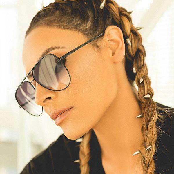 Brand Designer Specchio Gatto occhiali da sole Occhiali da sole Donne di lusso in lega di metallo occhiali da sole classici retro gafas all'aperto