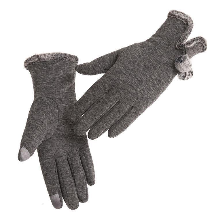 Bayanlar polar dokunmatik ekran artı kadife eldiven kış sıcak ve rüzgar geçirmez soğuk dayanıklı açık sürme kalınlaşmış eldivenler