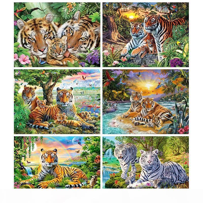 5d diamante pintura tigre perfuração completa quadrado diamante bordado animal ponto cruz nova chegada casa decoração