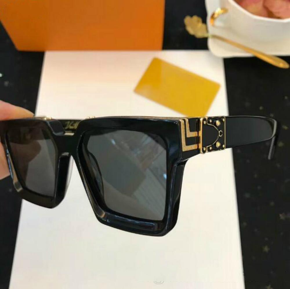 Óculos de sol milionários de luxo quadro completo sol 96006 homens polarizados para ouro brilhante Venda quente mulheres designer sunglasse