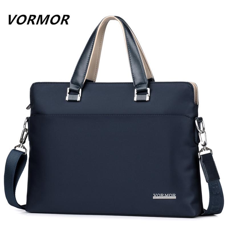 HBP VORMOR Famous Brand Men Briefcase Waterproof Oxford Business Laptop Bag Fashion Male Handbag Shoulder bags 2019 New Q0112