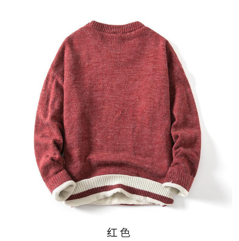 Мужские свитера свитера 2021 зимняя одежда утолщенные вязаные основания пальто плюшевые теплые вершины