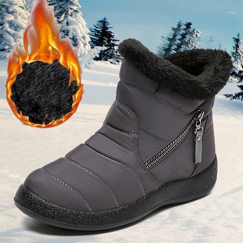 Bottes d'hiver Femmes Femmes Chaussures Chaudes Femmes Casual Femmes Chaussures Femmes Chaussures confortables Bottes de plateforme imperméable Botins Mujer 20201