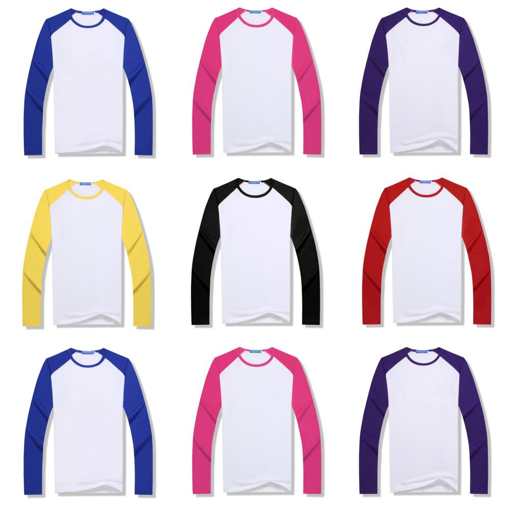 Sublimación Camiseta en blanco Transferencia térmica Transferencia de calor T Shirt DIY Unisex Blusa Top Top Tees para padres Niño Patchwork Raglan Tshirt G10606