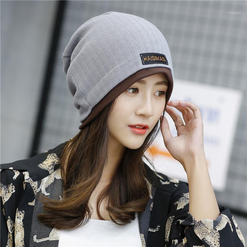 Korea Berretto solido Kullies lavorato a maglia calda inverno cappuccio donna moda casual casual autunno cappello vento tappo esterno 2020 beanies1