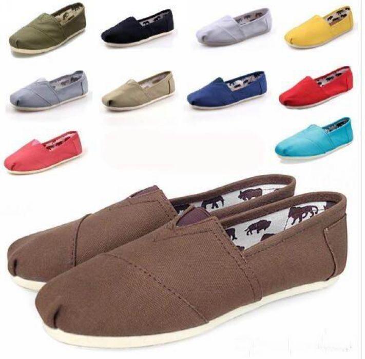 Varmstorlek 35-45 Nya Märke Mode Kvinnor Flats Skor Sneakers Kvinnor Och Män Kanfas Skor Loafers Casual Shoes Espadrilles