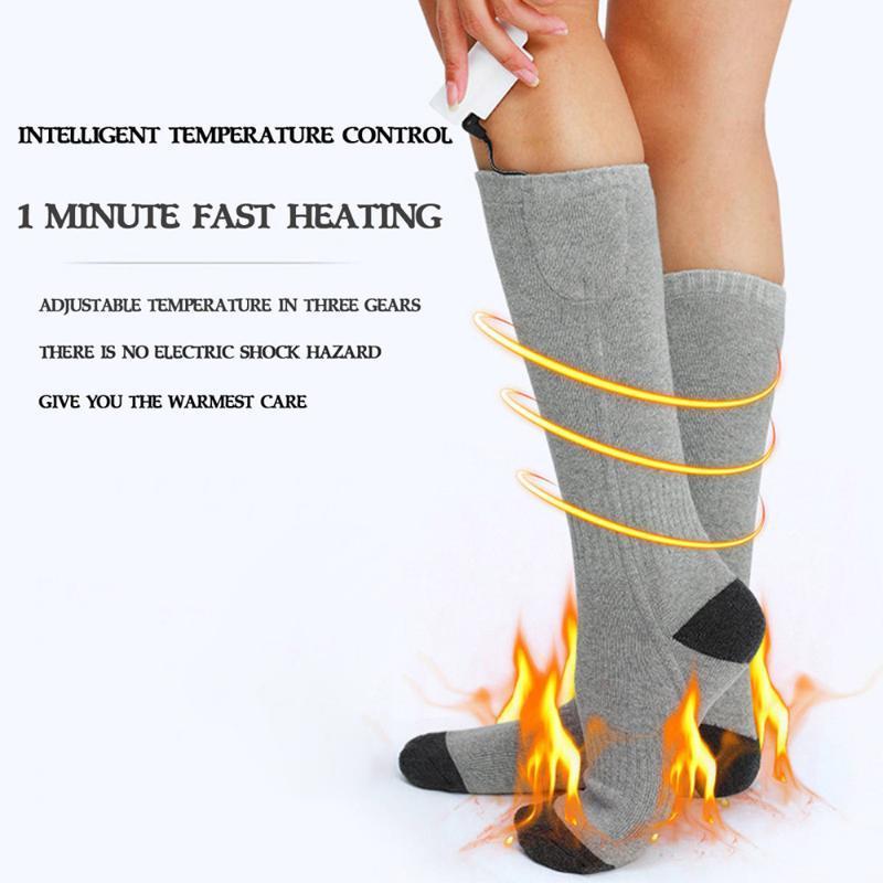 3 تعديل أدفأ الجوارب الكهربائية ساخنة الجوارب بطارية قابلة للشحن للنساء الرجال الشتاء في الهواء الطلق التزلج ركوب الدراجات رياضة الحرارة