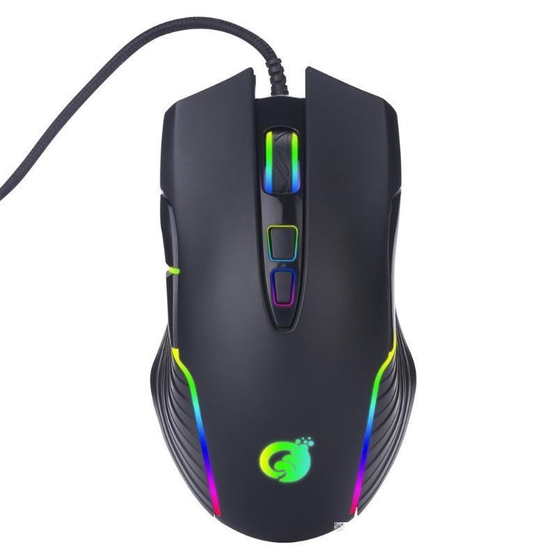 USB Wired RGB Backlight Maquillage Macro Macro Mouse ergonomique Computer PC Silent PC Gamer Desktop Accessoires pour ordinateur portable