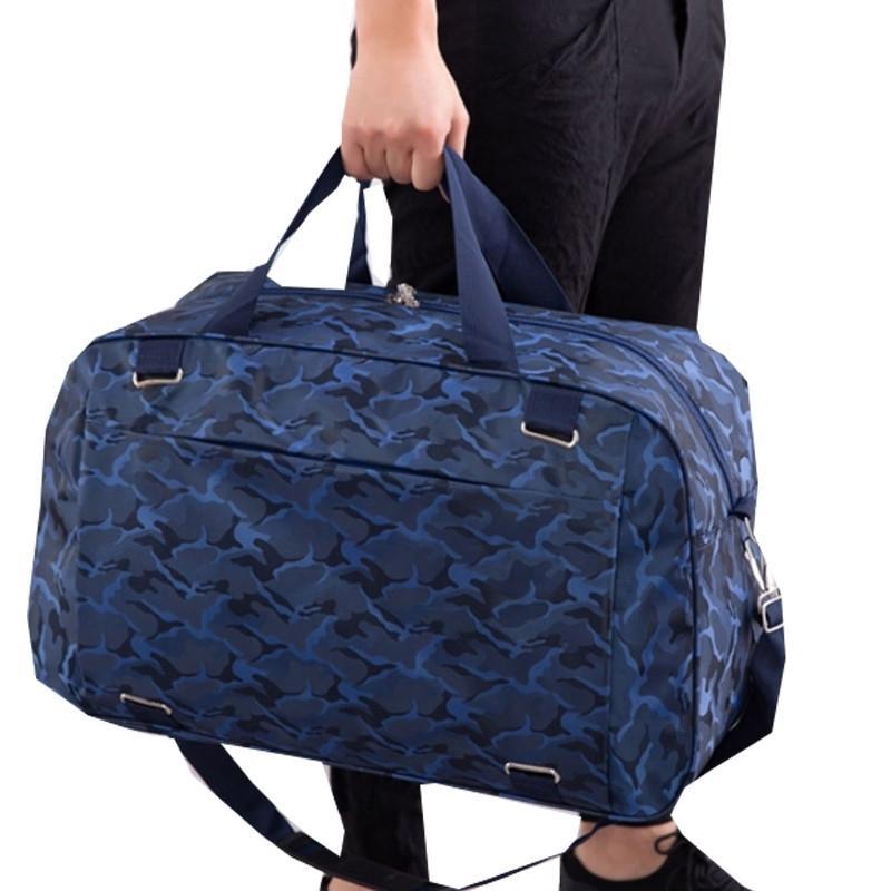 Mode Camouflage Sac de voyage Sac Femmes Hommes Épaule Voyage Sac à main Grand Capacité Sac à bagages Week-End Lj200921