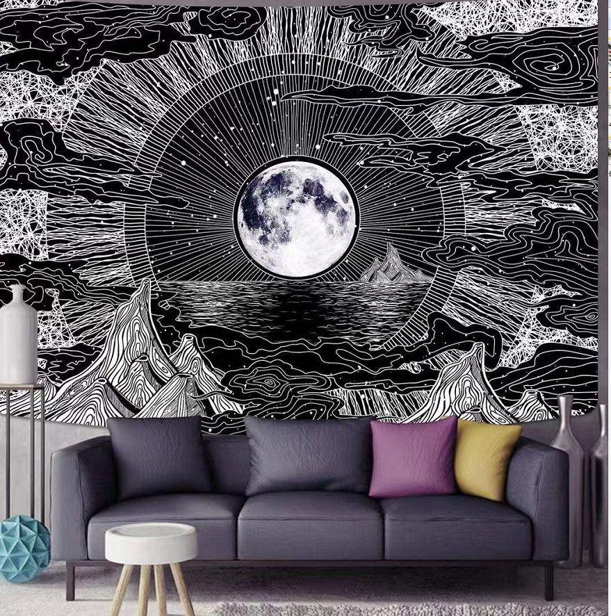 حار بيع القمر والنجوم سحابة نسيج أسود نسيج مخدر نسيج البوليستر الألياف الألياف البوليستر شنقا القماش نوم