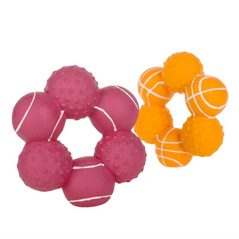 Cane giocattolo cuccioli denti-rettifica del dente sound morso resistente teddy schnauzer giocattolo palla pet fornisce interazione giornaliera w1218
