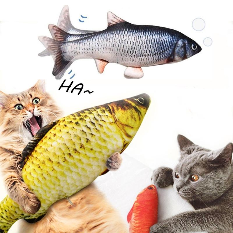 Realistic Plush Simulation Electric Doll Fish Dancing Moving Fish Funny Interactive Pets Cat Toys USB Charging Gifts for Kids 201112