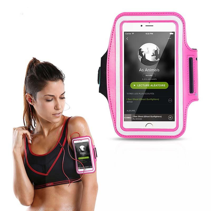 doğa sporları Spor koşu kol kayışı çanta nefes su geçirmez Ücretsiz elleriniz için Cep telefonu kol çantası