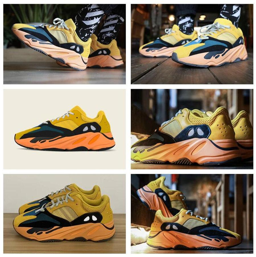Scarpe sportive da donna da uomo 2021 Kanye West Ash-Blue Shoes Official Vendita calda Vendita calda Riflettente Casual Sneakers Sneakers Scarpa da calcio Dimensione 36-48