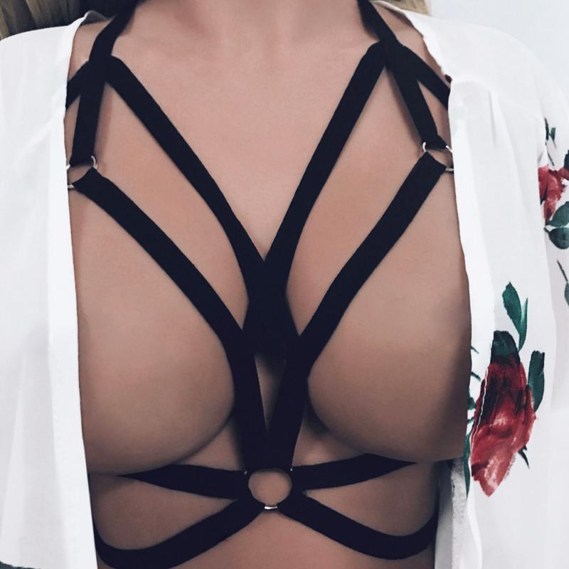 Bayan Sutyen Çapraz Koşum Strappy Sutyen Bralette Büstiyer Kırpma Üst Erotik Bralette Çizgisiz Boş Brassier Seksi Kulübü Giysileri1