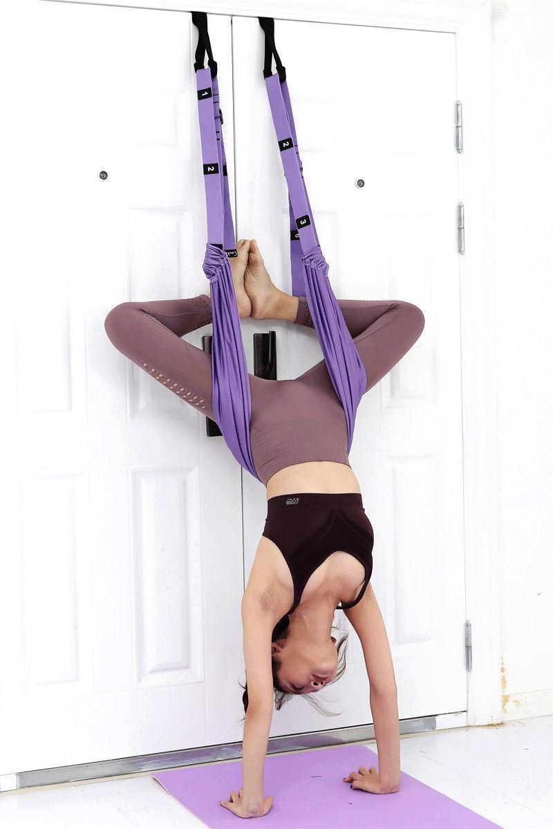 Ajustável Aérea Yoga Strap Hammock Swing Alongamento de Inversão Anti-Gravidade Exercisões Multicamadas Correia Yoga Flexibility Trainer