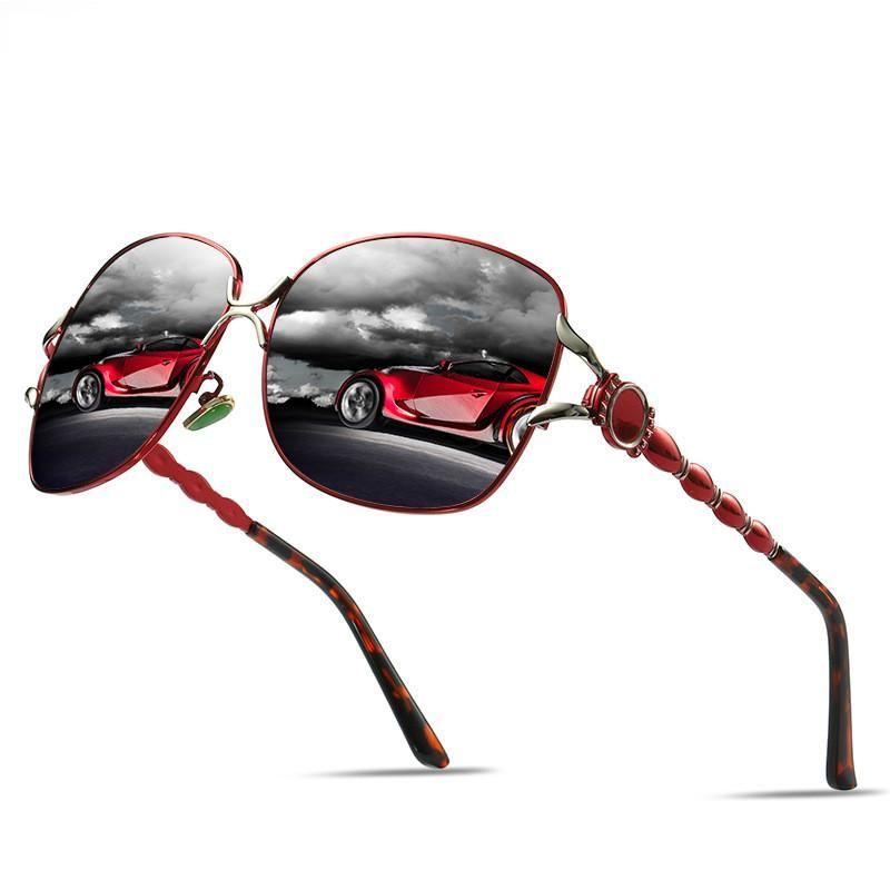 Очки, нос, поляризованные зеркальные женские женские женские классические вождение новых солнцезащитных очков, Paimw