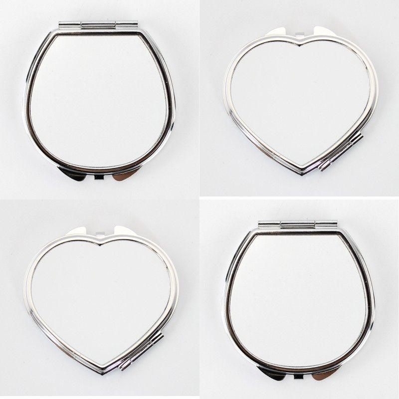 Beyaz Süblimasyon Boş Kozmetik Ayna Kadın Mini Paslanmaz Çelik Moda Termal Transferi Baskı Metal Makyaj Aynalar DIY 3 2RJ J2