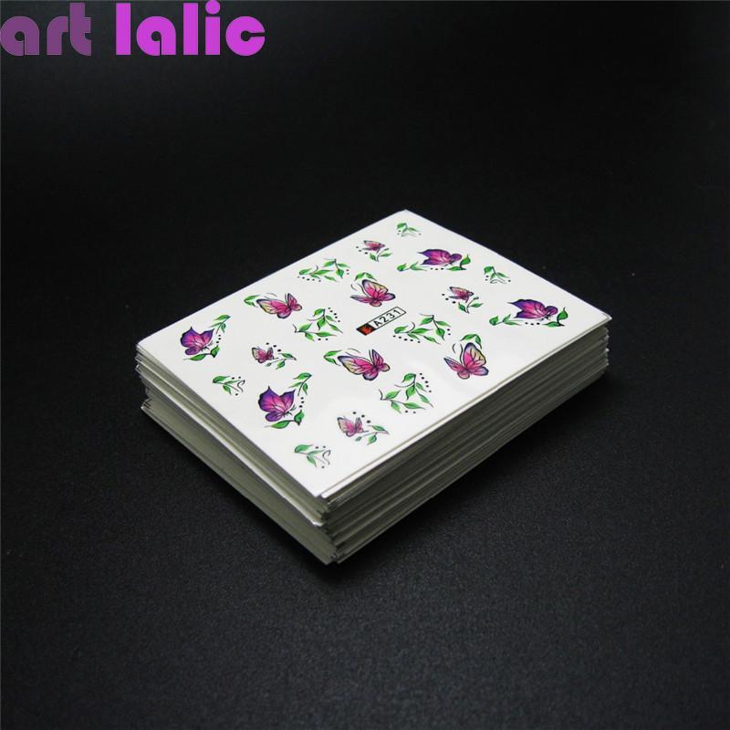 50 feuilles Stickers à ongles Designs Designs Mixtes Transfert d'eau Nail Art Sticker Sticker Stickers DIY Décoration pour Beauty Nail Outils