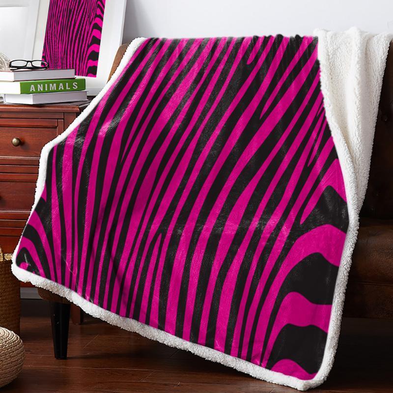Полосы фиолетовые геометрические флисовые одеяло теплые кашемировые одеяло офисный диван поставляет одеяла для кроватей