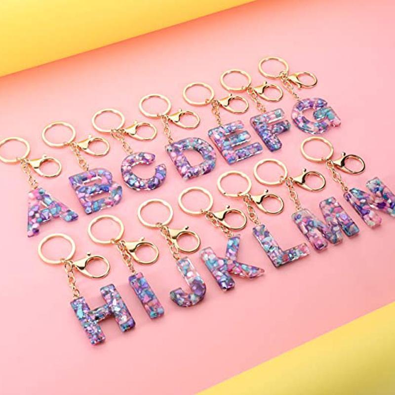 패션 편지 키 체인 여성 남성 26 한국어 단어 펜던트 키 반지 홀더 수지 아크릴 자동차 키 체인 Kimter-X931FZ
