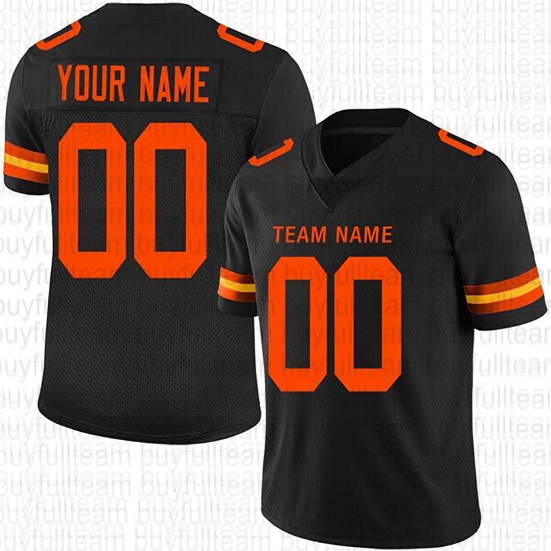Diseño personalizado su propio jersey de fútbol negro 56