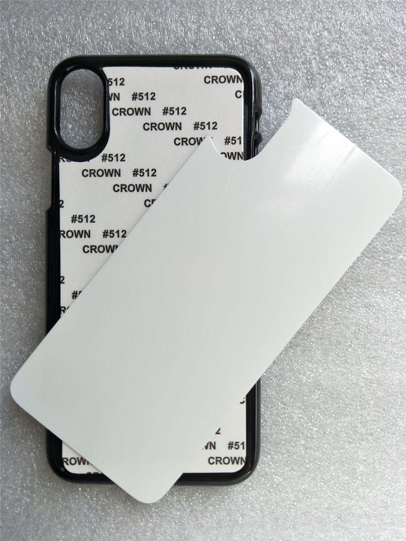 Cajas de PC duro de sublimación en blanco 2D para iPhone 12 Mini Pro Max 11 x XR 7 8 Plus con placa de inserción de aluminio