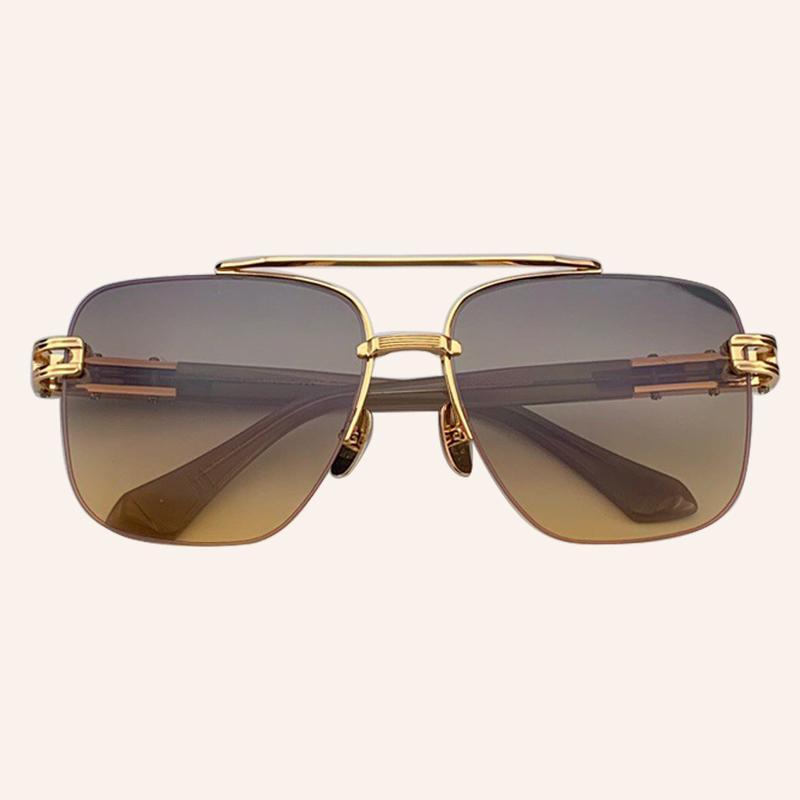 Квадратные роскоши Солнцезащитные очки Мужчины Бренд Дизайнер Портрет рамки Лига солнцезащитных очков мужская мода из винтажных женщин V8L2