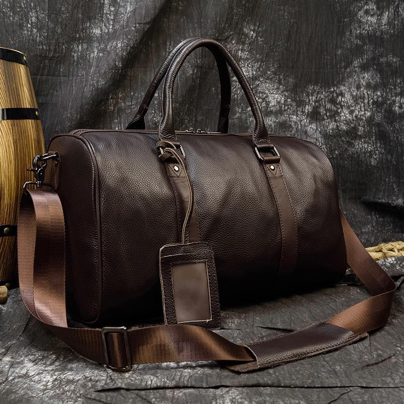 Maheu Hot Genuine Leather Homens Mulheres Travel Bag Macio Couro Real Cowhide Levar Mão Bagagem Sacos de Viagem Bolsa De Ombro Masculino Fêmea