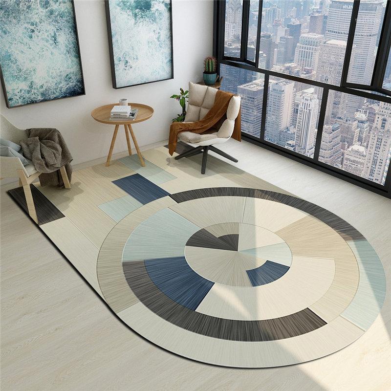 Ковры Цветочные формы ковер творческий дизайн невинный напольный коврик для спальни офисный стул коврик кровать северное украшение лаунж1