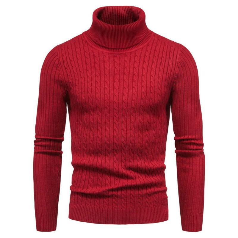 2020 nouveau turtleneck Pull coréen Slim Twist Couleur Pure Couleur Trendy Stretch Stretch Strethirt