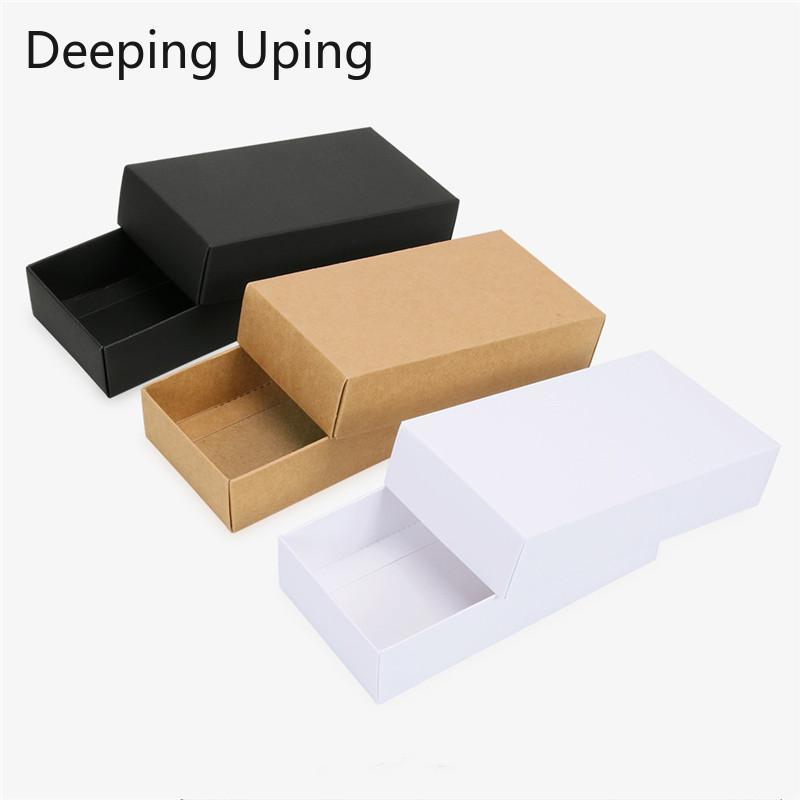 10 шт. Kraft подарочная коробка белые подарки бумажные коробки для упаковки черная упаковка разноцветная упаковка конфеты ювелирные изделия свадьба день рождения новый