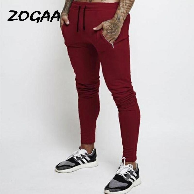 ZOGAA Pantalons Hommes Casual Pantalons sport Trendy Fashion New Skinny Crayon Pantalons Grandes Tailles Vente chaud en match simple Basic Chic