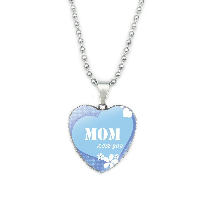 Accessoire Fashion Day Mère Maman Pendentif Pendentif Simple Cadeau Cadeau Collier 38v8P