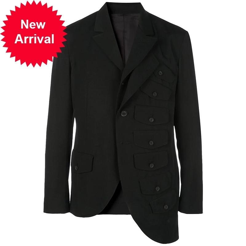 S ~ 5XL 2020 NOUVEAU Vêtements pour hommes Mode original Montrer une veste de costume multi-couches multicouches personnalisée.