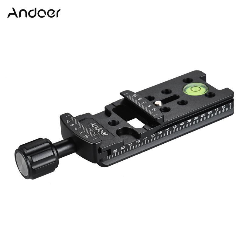 Andoer FNR-200 200MM سريعة الإصدار لوحة ترايبود عقدي الشريحة ترايبود السكك الحديدية سريعة الإفراج لوحة المشبك محول اعتماد التصوير الفوتوغرافي