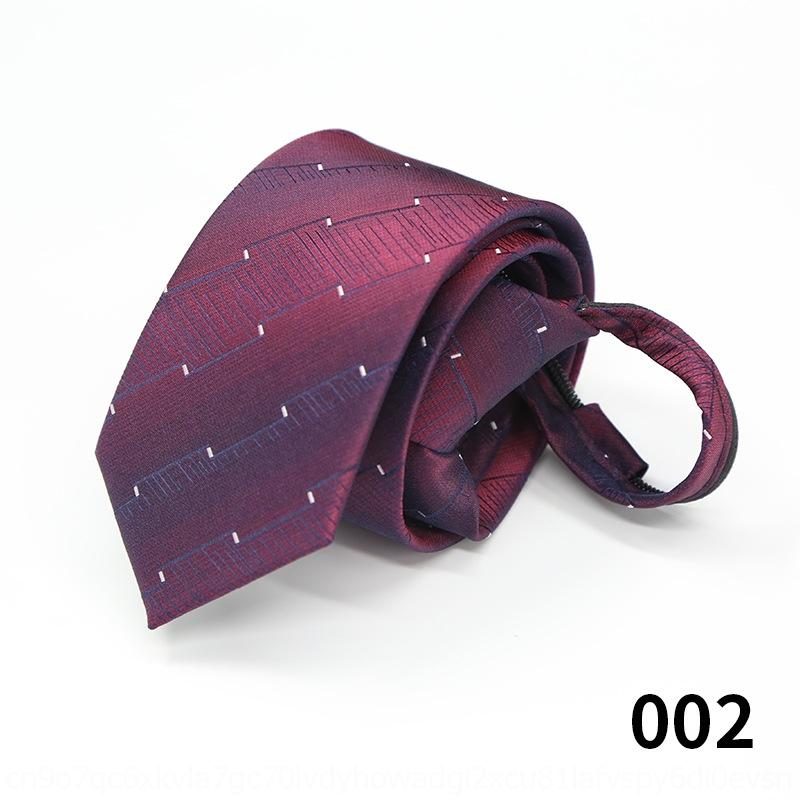 Gravata Crouk Tie Fácil de Fácil de Terno Zipper Zipper Pull Tie Lazy Fácil de Puxar 6cm