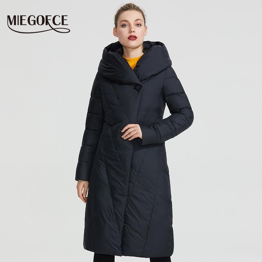 Miegofce Зимняя Длинная Модель Женская Куртка Пальто Теплые Моды Женщины Parkas Высококачественные Bio-Down Женские Пальто Новый Дизайн Y201001