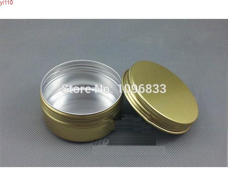 80G 80 ml Alüminyum Kavanoz Altın Renk, Aromaterapi Kavanoz, Parfüm Duman Kutusu, Metal Krem Konteyner, 50 adet / lotgoods