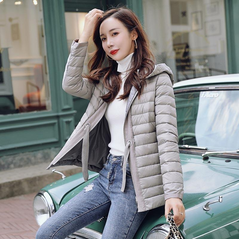 Female Korean Women's Ultra Light Down Jacket Women Autumn Winter Coat Warm Black Ropa Mujer Csqb2021009 Pph664