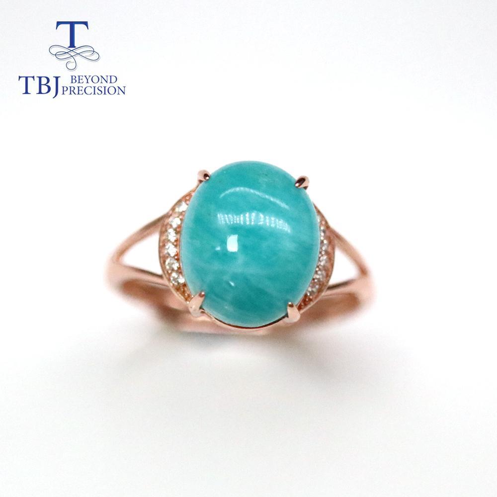 Oval 10 * 12mm natural ite gemstone anel 925 esterlina prata jóias finas para mulheres diariamente desgaste tbj jóias j1208