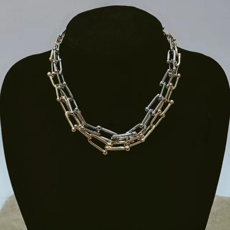Цепи градиента U-формы цепи ожерелья для женщин Валентина Оригинальные стерлинговые украшения