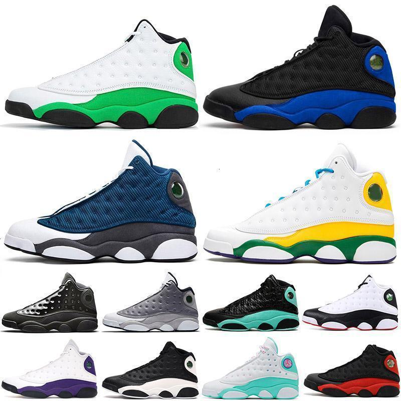 13 13s Jumpman Basketball Shoes Mens Womens Lucky Verde Soar Playground Chicago Lakers Flint Playground Black Cat Sports Sneakers Trainers