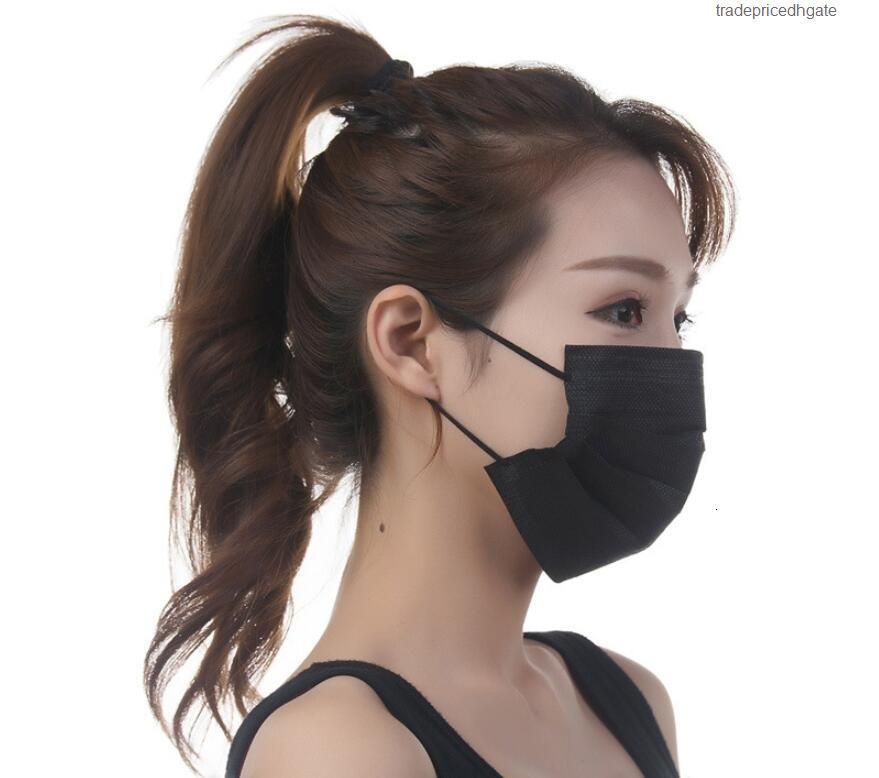 Proteção segura de transporte livre preto não capuz tecido tecido anti neblina anti neblina único uso boca máscara de lagoop s1qd rj41