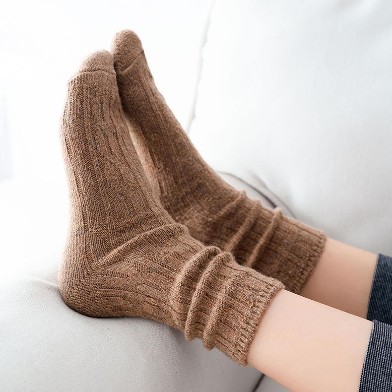 Calcetines calcetines moda invierno mujeres largas niñas corea estilo color transpirable casual algodón dama retro cálido alta calidad