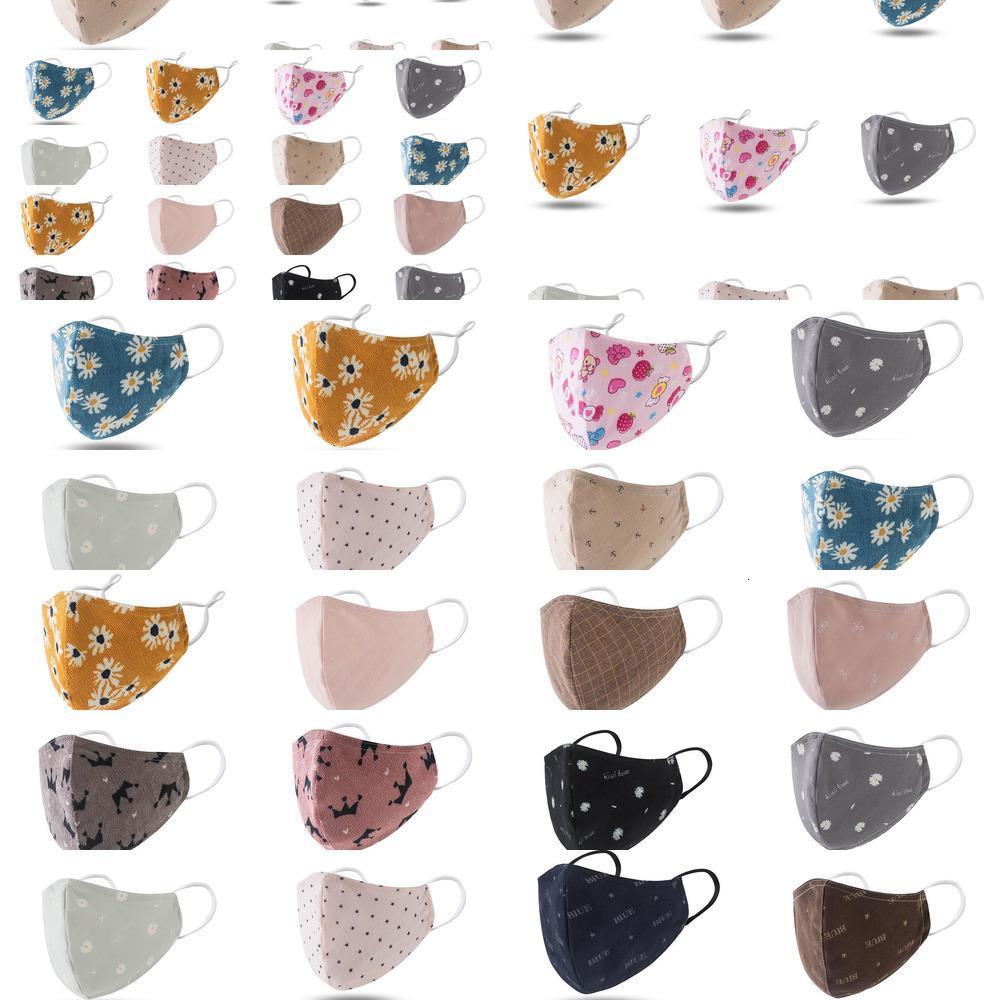 100% Gesichtsmaske Erwachsene Maske Cartoon Kinder Mund Baumwolle Waschbare Wiederverwendbare Maske mit Filter dus Nlmq KRPL